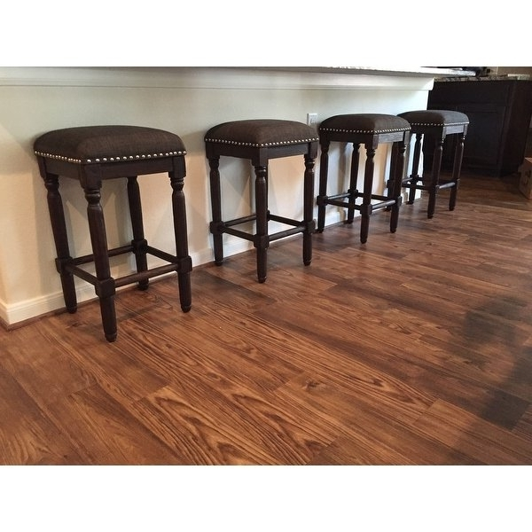 Latest Laurent 7 Piece Counter Sets With Upholstered Counterstools Within Shop Carbon Loft Branson Coffee Counter Stools (Set Of 2) – Free (View 7 of 20)