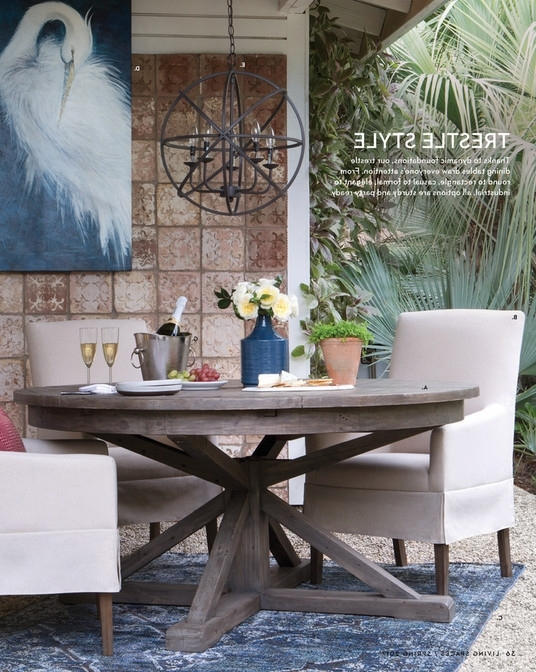 Latest Living Spaces – Product Catalog – Spring 2017 – Partridge Dining Table Pertaining To Partridge Dining Tables (View 7 of 20)