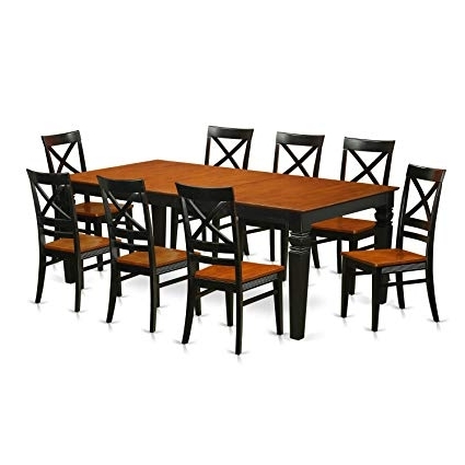 Latest Logan Dining Tables Pertaining To Amazon – East West Furniture Lgqu9 Bch W 9 Piece Kitchen Table (View 5 of 20)