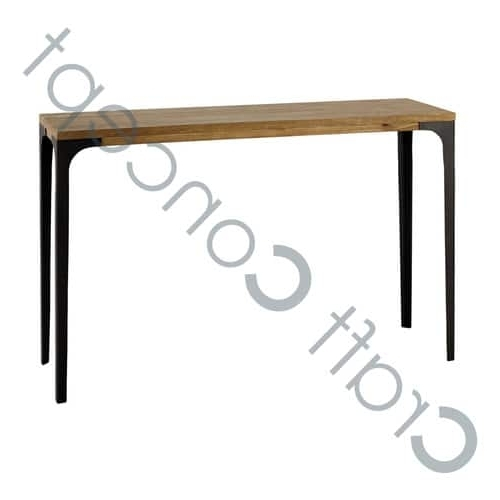 Latest Mango Wood & Iron Dining Table – Mango Wood & Iron Dining Table Throughout Mango Wood/iron Dining Tables (View 4 of 20)