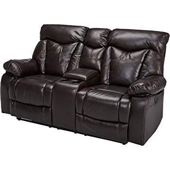 Latest Marcus Chocolate 6 Piece Sectionals With Power Headrest And Usb Pertaining To Amazon: Delange Reclining Power Sofa With Adjustable Headrests (View 14 of 15)