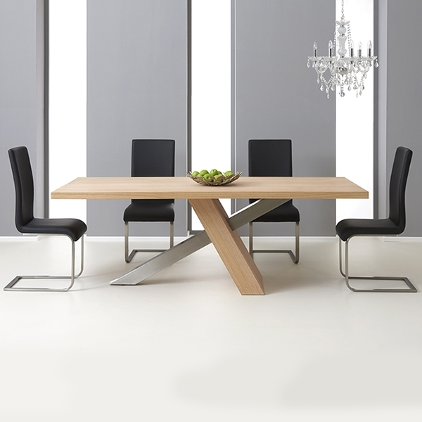 Latest Milano Solid Oak 180Cm Dining Table With 6 Milan Chairs – Robson In 180Cm Dining Tables (View 13 of 20)