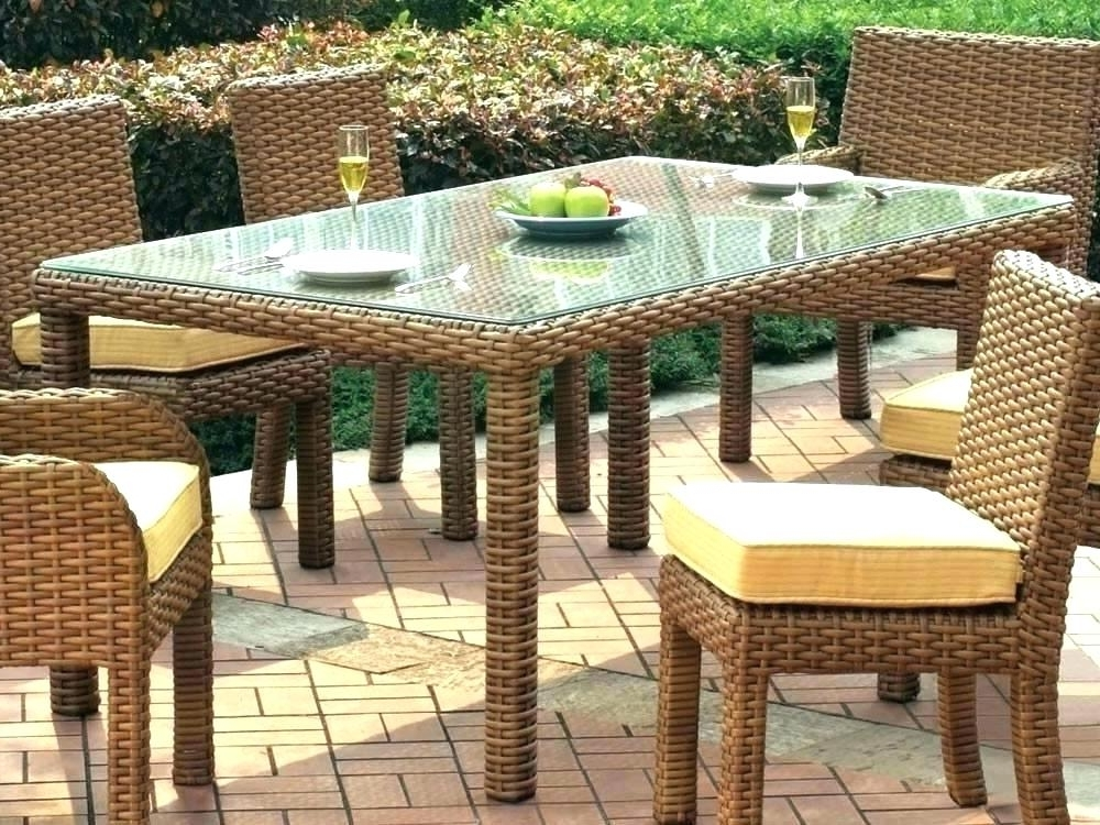 Latest Rattan Dining Tables Throughout Astonishing Decoration Rattan Dining Table Wicker Room Tables (View 7 of 20)
