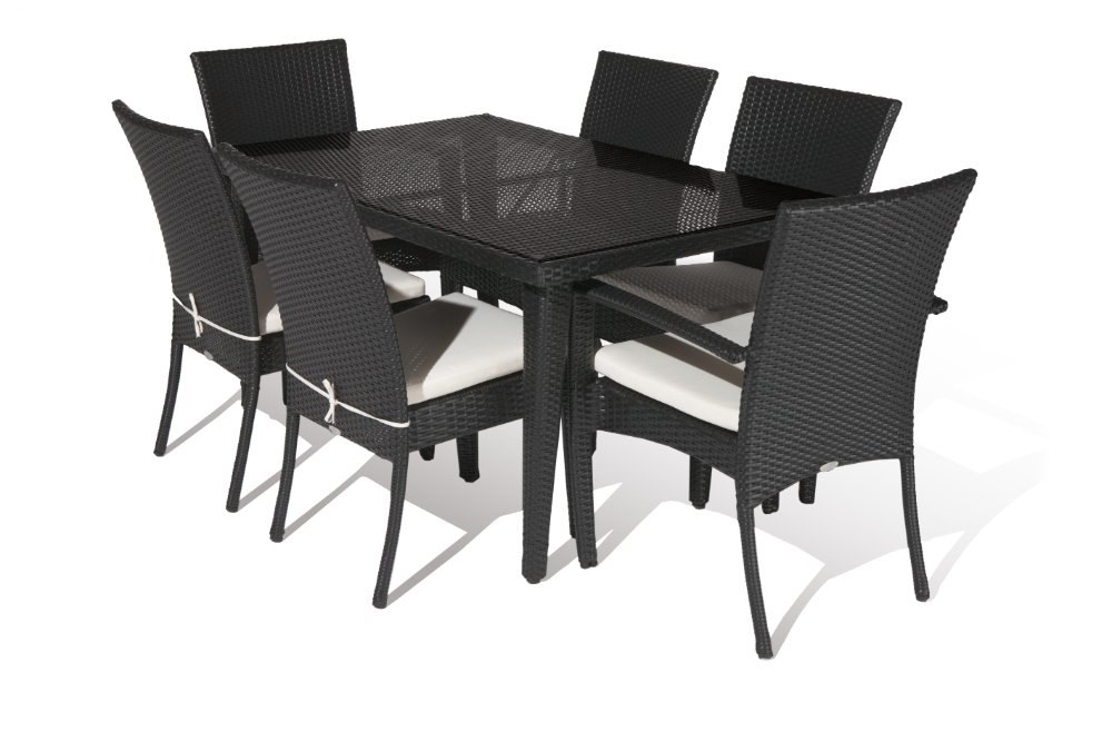 Latest Rattan Dining Tables Within Aluminium Outdoor Pe Rattan Economic Dining Table Set In Garden Sets (View 10 of 20)