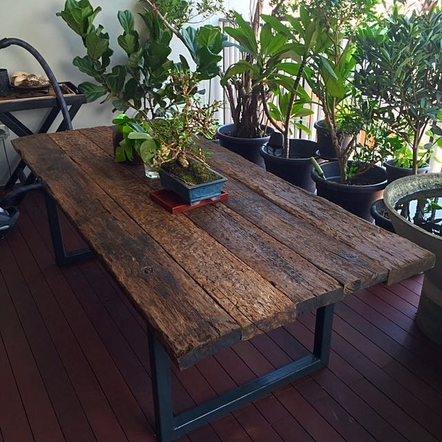 Latest Reclaimed Railway Sleeper Wood Dining Table, Furniture On Carousell In Railway Dining Tables (View 8 of 20)