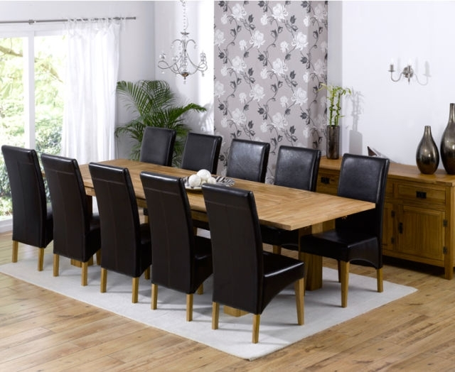 Latest Roma Dining Tables And Chairs Sets With Regard To Texas Solid Oak Furniture Extended Dining Table With 10 Roma Chairs (View 6 of 20)