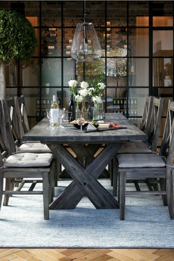 Latest Rustic Extension Dining Table & Chairs (View 8 of 20)