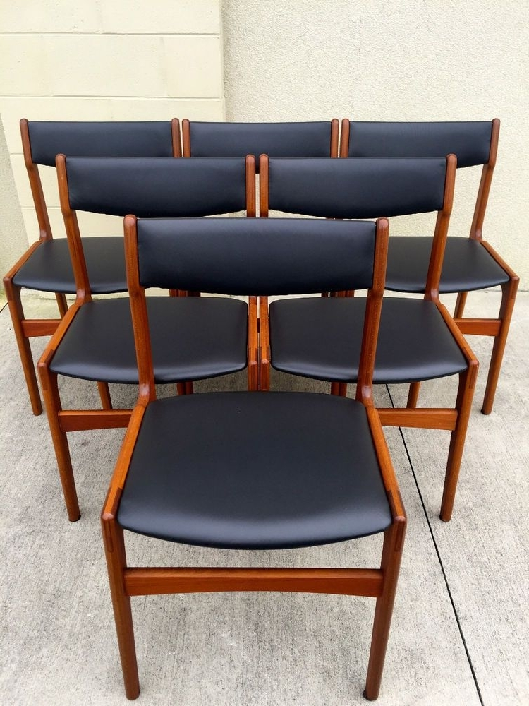 Latest Set Of Six Midcentury Danish Modern Dining Chairs (View 13 of 20)