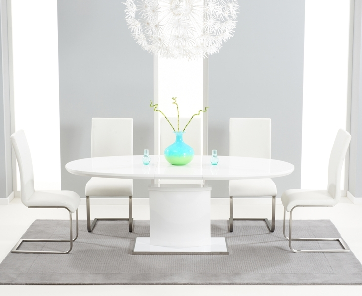 Latest Seville White High Gloss – High Gloss Dining Table For White Gloss Dining Furniture (View 7 of 20)