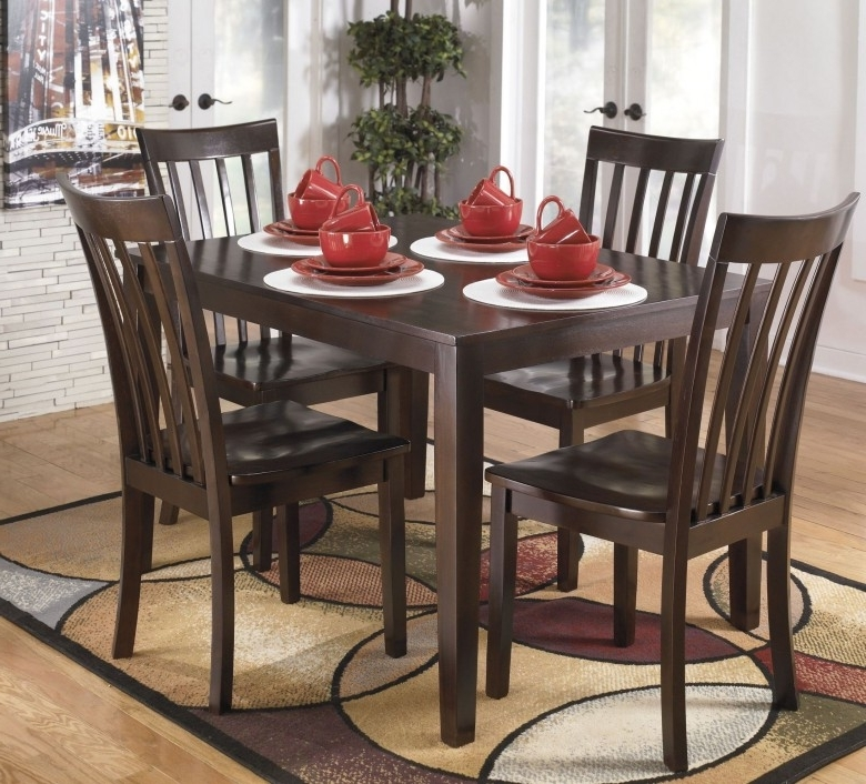 Latest Signature Designashley Hyland 5 Piece Casual Dining Set – Hyland Pertaining To Hyland 5 Piece Counter Sets With Bench (Gallery 4 of 20)