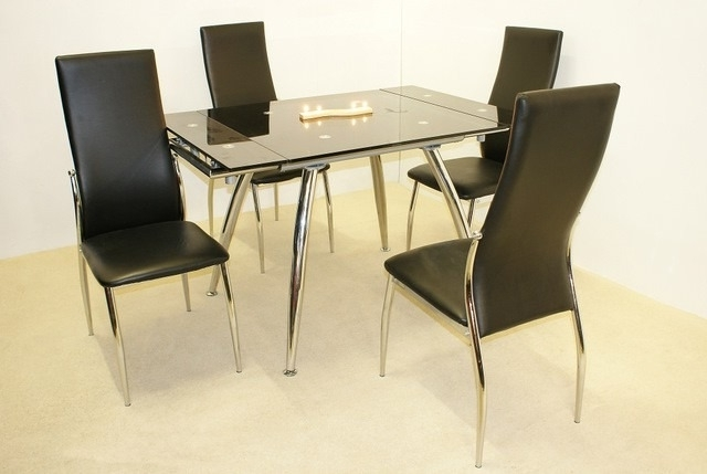 Latest Small Extending Dining Tables And 4 Chairs With Sale On Madrid Small Extending Dining Table With 4 Chairs (View 7 of 20)