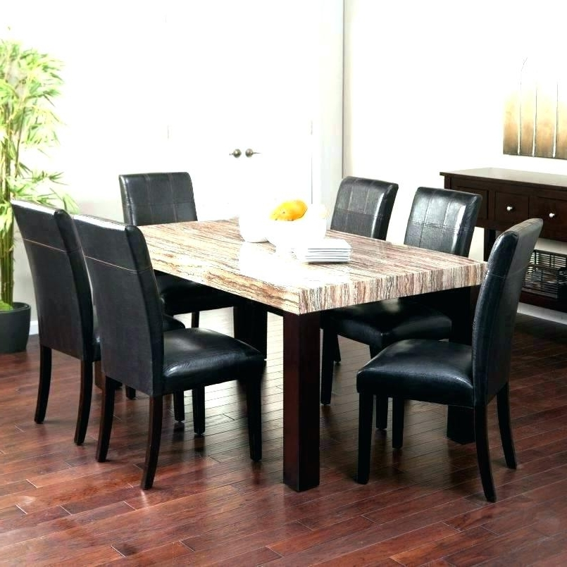 Latest Solid Marble Dining Tables Within Solid Marble Dining Table Black Set Granite Room Top Italian (View 5 of 20)