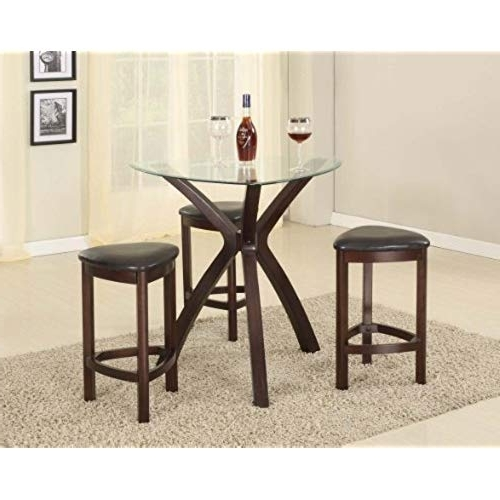 Latest Triangle Dining Table: Amazon Inside Carly 3 Piece Triangle Dining Sets (View 12 of 20)
