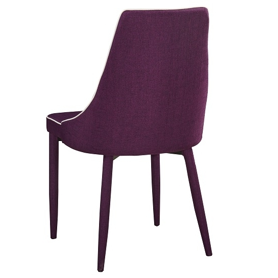 Latest Westport Stylish Dining Chair In Purple Fabric Dining Two Chair Within Dining Tables And Purple Chairs (View 10 of 20)