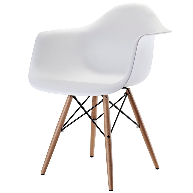 Latest White Dining Chairs Intended For Teresa Dining Chair White – Modern Dining Furniture – Sleek Modern (View 8 of 20)