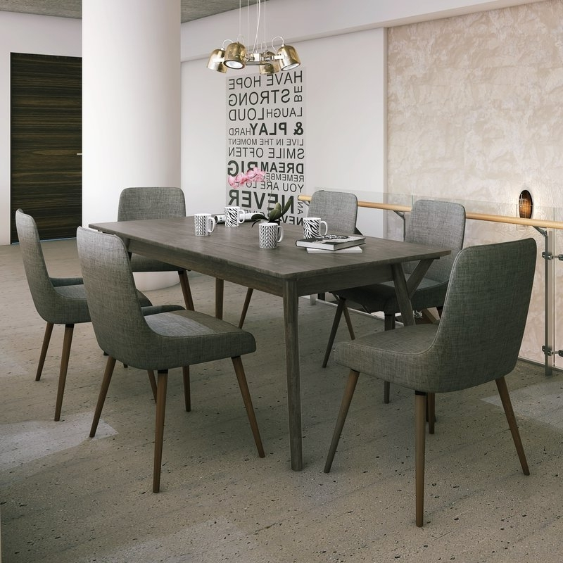Featured Photo of Helms 6 Piece Rectangle Dining Sets With Side Chairs