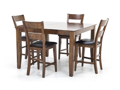 Laurent 5 Piece Round Dining Sets With Wood Chairs For Fashionable Dining – Dining Sets (Gallery 9 of 20)