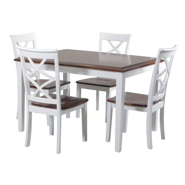 Laurent 5 Piece Round Dining Sets With Wood Chairs Regarding Current White Kitchen & Dining Room Sets You'll Love (Gallery 12 of 20)