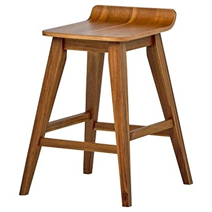 "Laurent 7 Piece Counter Sets With Wood Counterstools Inside 2017 Amazon: Stone & Beam Fremont Rustic Counter Stool, 25.5"" H (Gallery 12 of 20)"