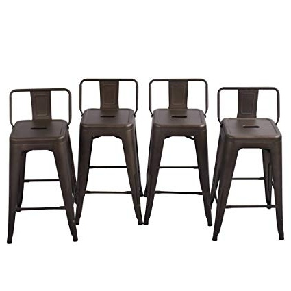 Laurent 7 Piece Counter Sets With Wood Counterstools With Regard To Most Recently Released Amazon: Tongli Metal Barstools Set Industrial Counter Stool (Gallery 3 of 20)