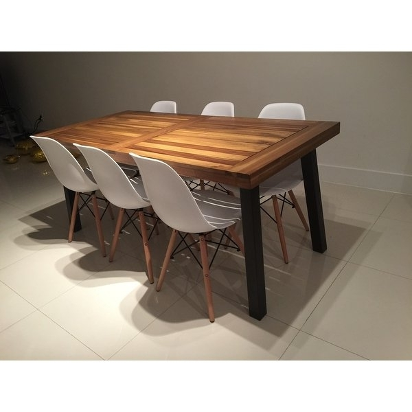 Laurent 7 Piece Rectangle Dining Sets With Wood And Host Chairs Intended For Most Up To Date Shop Sparta Acacia Wood Rectangle Dining Tablechristopher Knight (View 8 of 20)