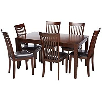 Laurent 7 Piece Rectangle Dining Sets With Wood Chairs Pertaining To 2017 Amazon – Furniture Of America Northvale I Dining Table Set (View 7 of 20)