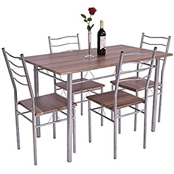 Laurent 7 Piece Rectangle Dining Sets With Wood Chairs Pertaining To Well Known Amazon – Harper Bright Design 5 Pcs Dining Table Set Dining Set (View 19 of 20)