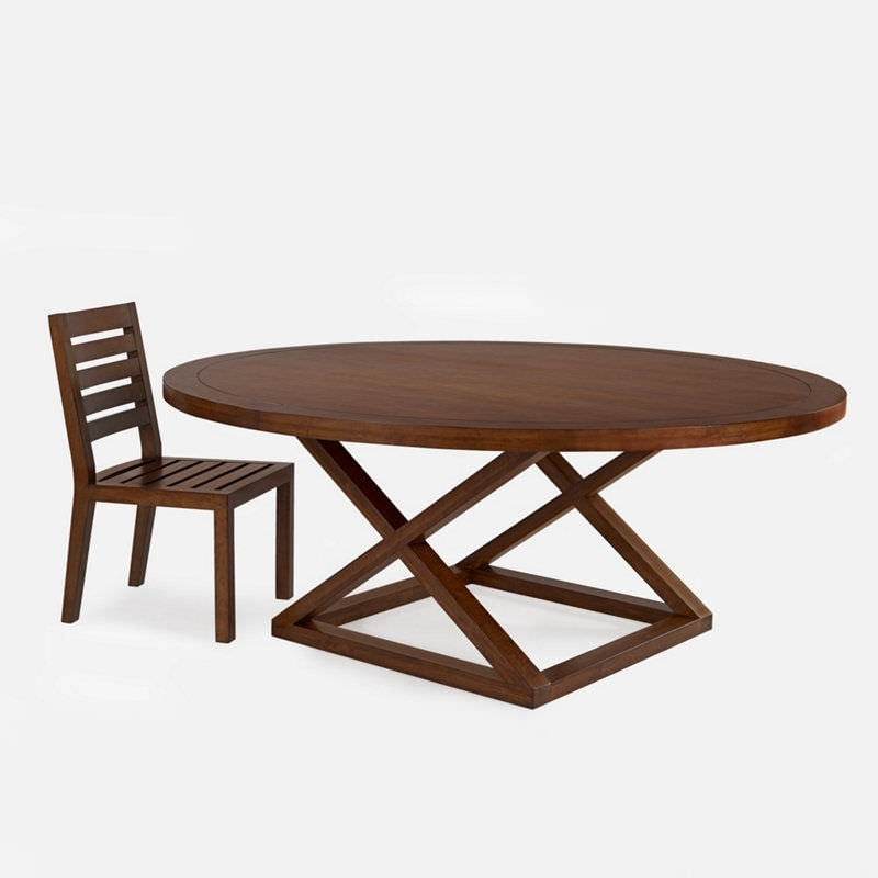 Laurent Round Dining Tables With Regard To Current Contemporary Dining Table / Wooden / Round – Jamaica – Ralph Lauren (View 12 of 20)
