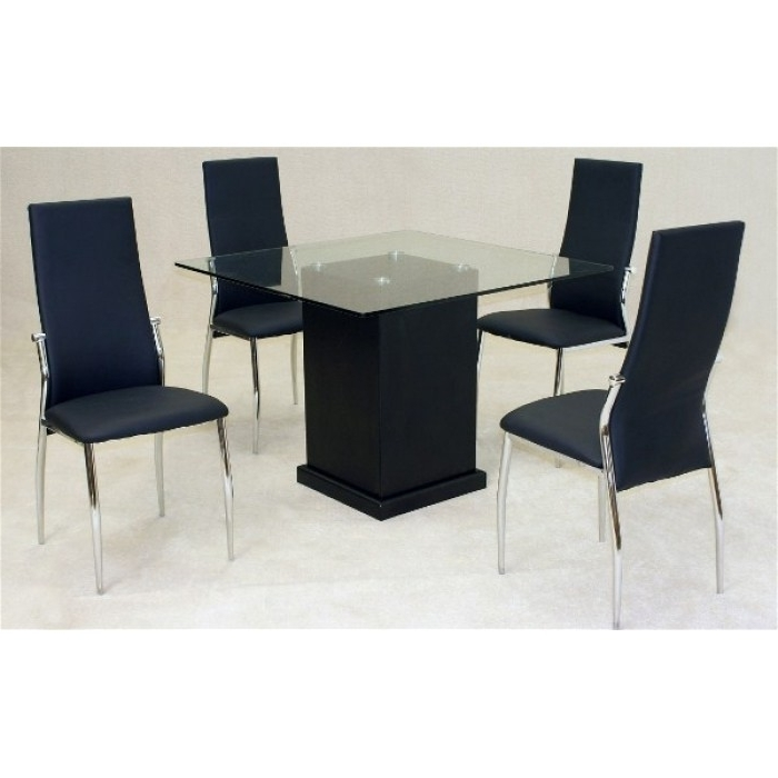 Lazio Dining Tables Intended For Most Up To Date Odessa Dining Table + 4 Lazio Chairs (View 17 of 20)