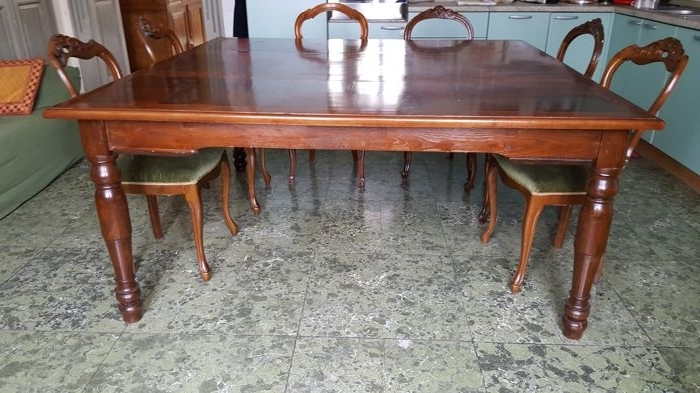 Lazio Dining Tables Throughout Widely Used Antique Large Dining Table In Walnut And Mahogany – Italy, Lazio (View 19 of 20)