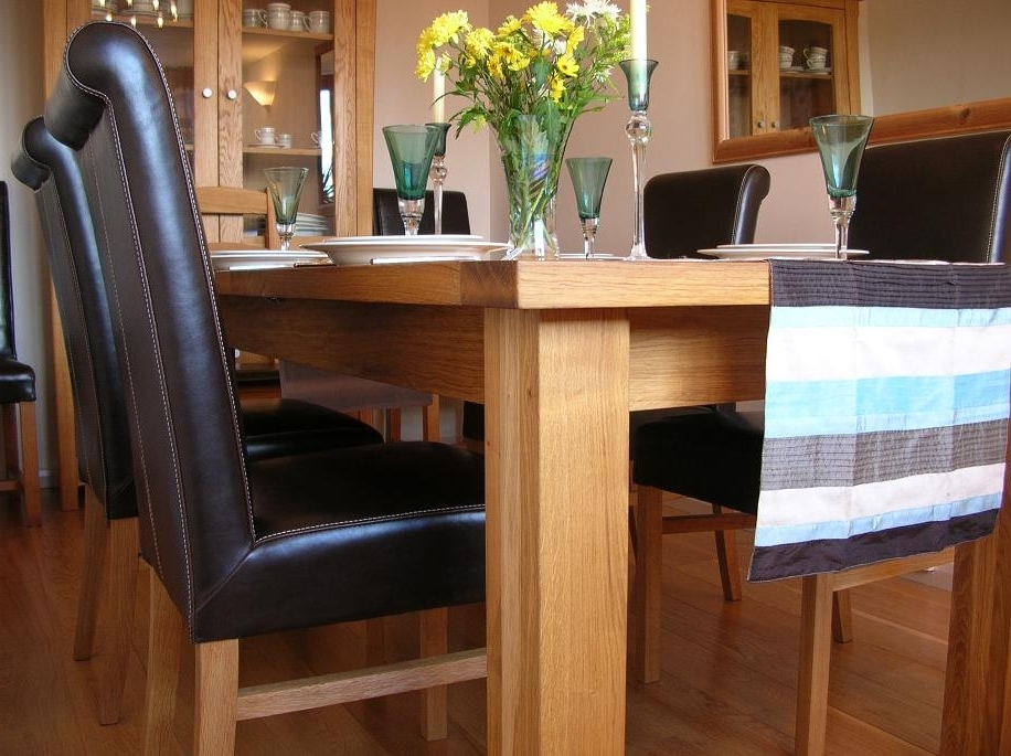 Leather Chair Dining Table Sets (View 4 of 20)