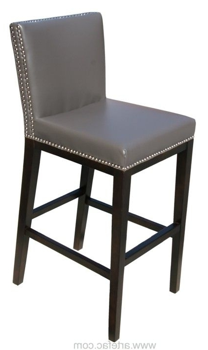 Leather Color: Grey Leather Throughout Latest Valencia 4 Piece Counter Sets With Bench & Counterstool (Gallery 13 of 20)