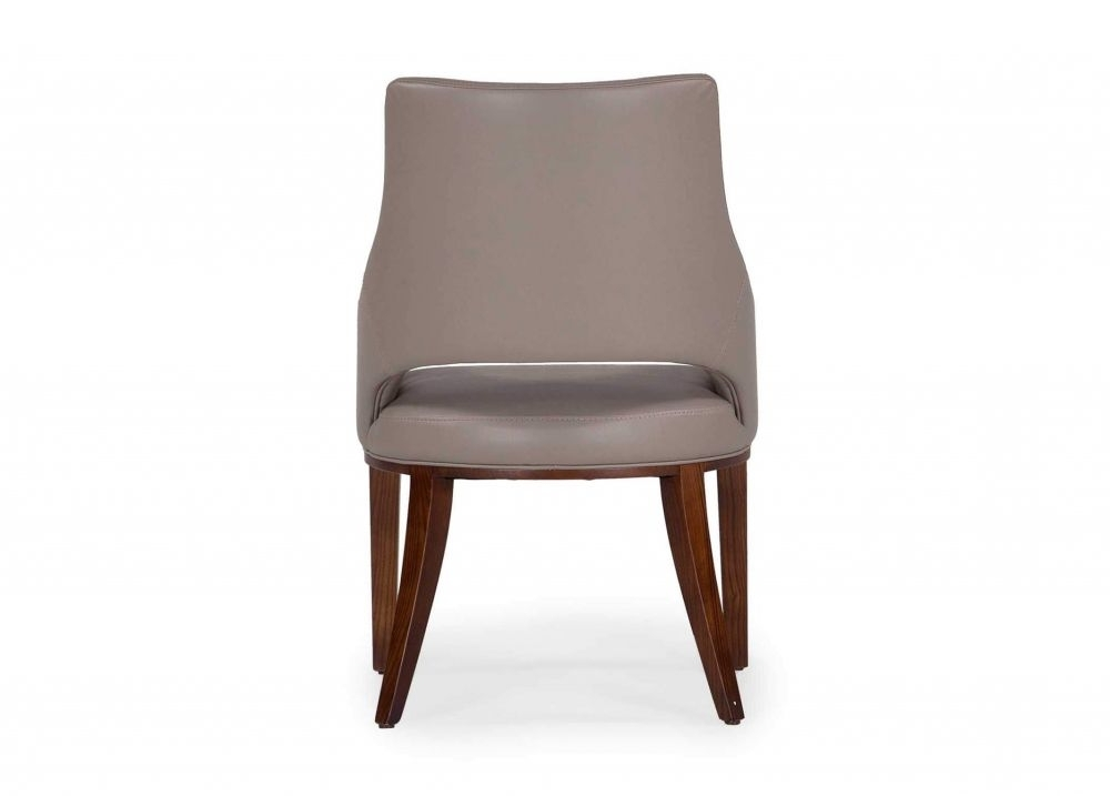 Leather Dining Chairs In Well Known Taupe Leather Dining Chair With Arms – Enzo – Ez Living Furniture (View 10 of 20)