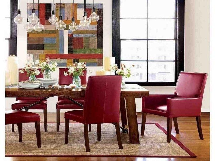 Leather Dining Pertaining To Most Current Red Leather Dining Chairs (View 14 of 20)