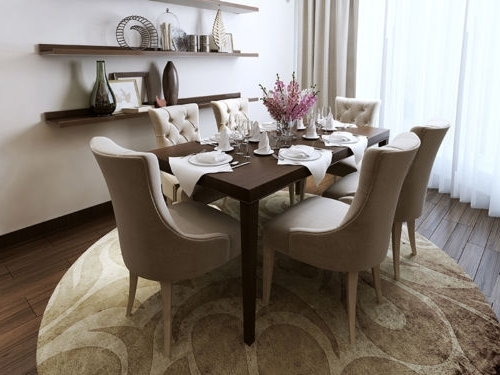 Leather, Wood Or Fabric: Find Your Ideal Dining Room Chair With Regard To Popular Fabric Dining Room Chairs (Gallery 3 of 20)