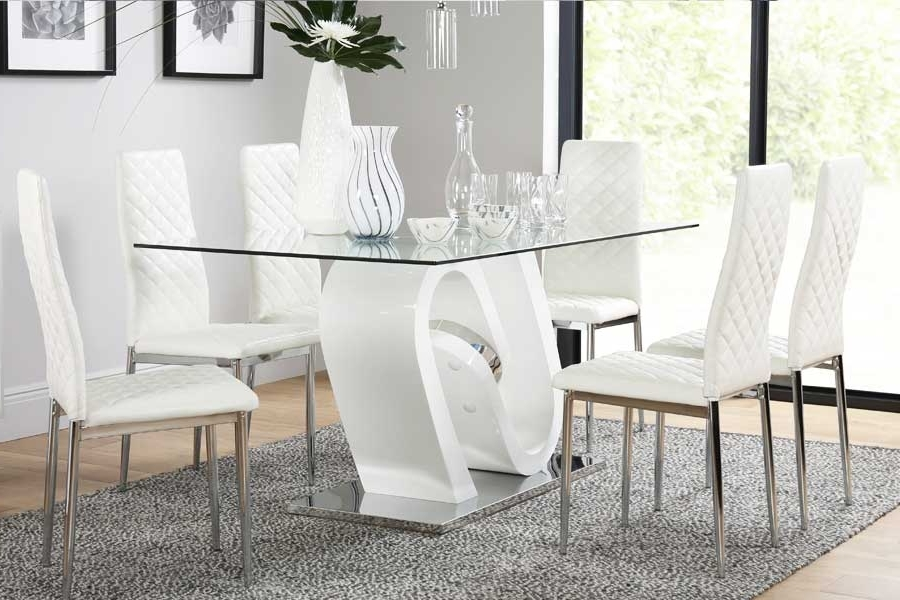 Leon 7 Piece Dining Sets Intended For Most Recently Released Dining Table & 6 Chairs – 6 Seater Dining Tables & Chairs (View 14 of 20)