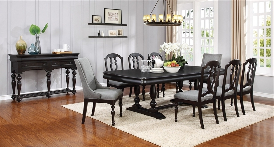 Leon 7 Piece Dining Sets Pertaining To Recent Leon 7 Piece Dining Set In Black Licorice Finishcoaster –  (View 8 of 20)