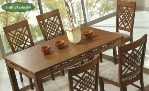 Leon Dining Tables Pertaining To Most Recent Swiss Wooden Dining Table Set, Dining Series (View 17 of 20)