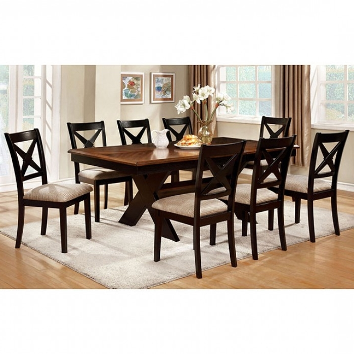 Liberta Transitional Dark Oak Black Dining Table Set – Shop For Pertaining To Popular Dark Dining Tables (View 16 of 20)
