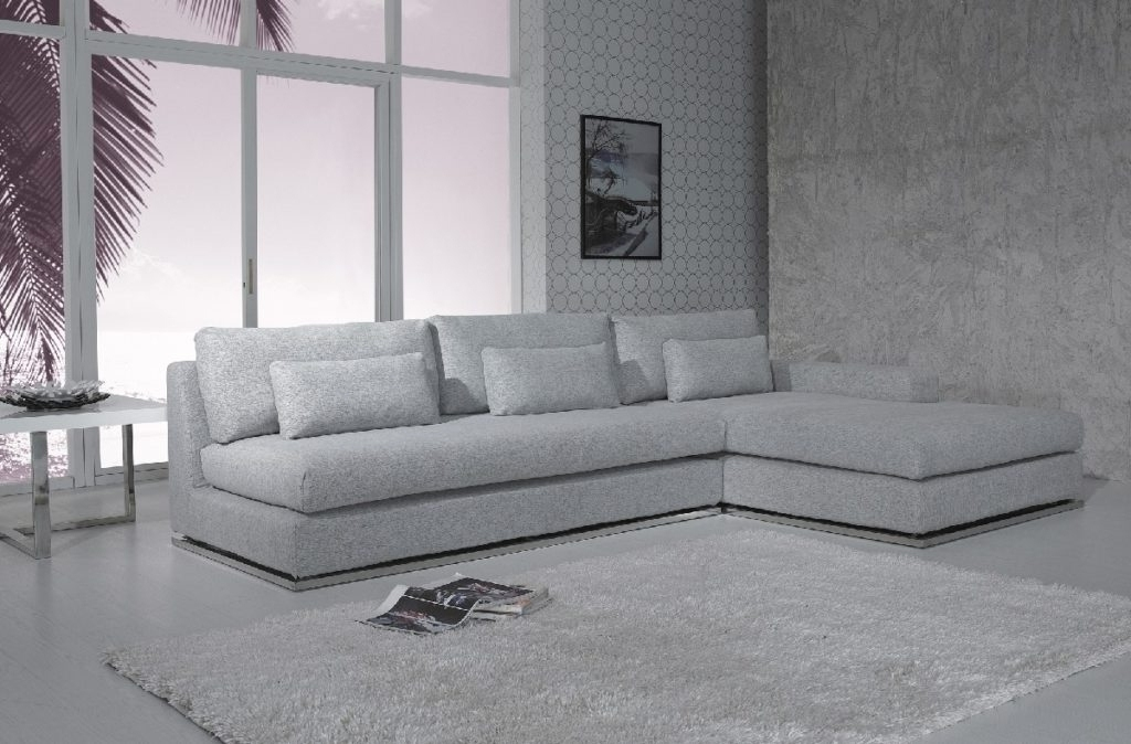 Light Grey Sectional – Tidex Regarding Best And Newest Aquarius Light Grey 2 Piece Sectionals With Laf Chaise (View 15 of 15)
