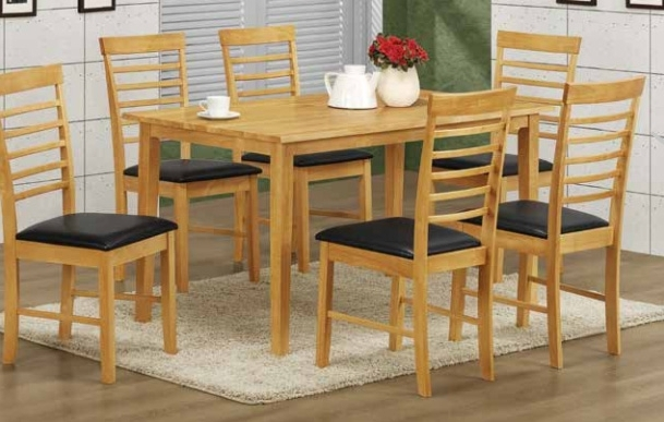 Light Oak Dining Tables And 6 Chairs Regarding Most Popular Hanover Light Oak Dining Set – 6 Chairs (Gallery 10 of 20)