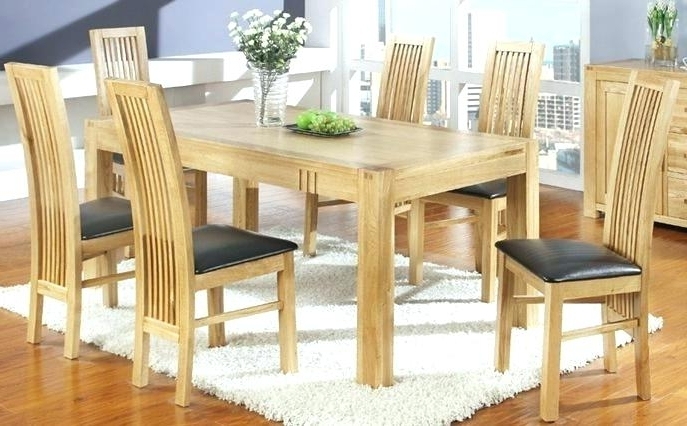 Light Oak Dining Tables And 6 Chairs Throughout Well Known Light Wood Dining Room Furniture Light Wood Dining Room Furniture (Gallery 17 of 20)