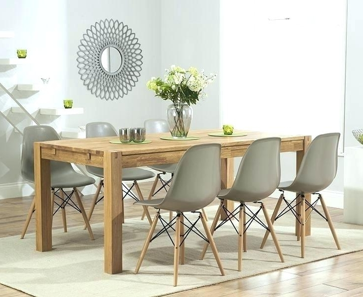 Light Oak Dining Tables And Chairs For Preferred Oak Dining Table Chairs Uk Dining Chairs From Furniture Solid Oak (View 8 of 20)