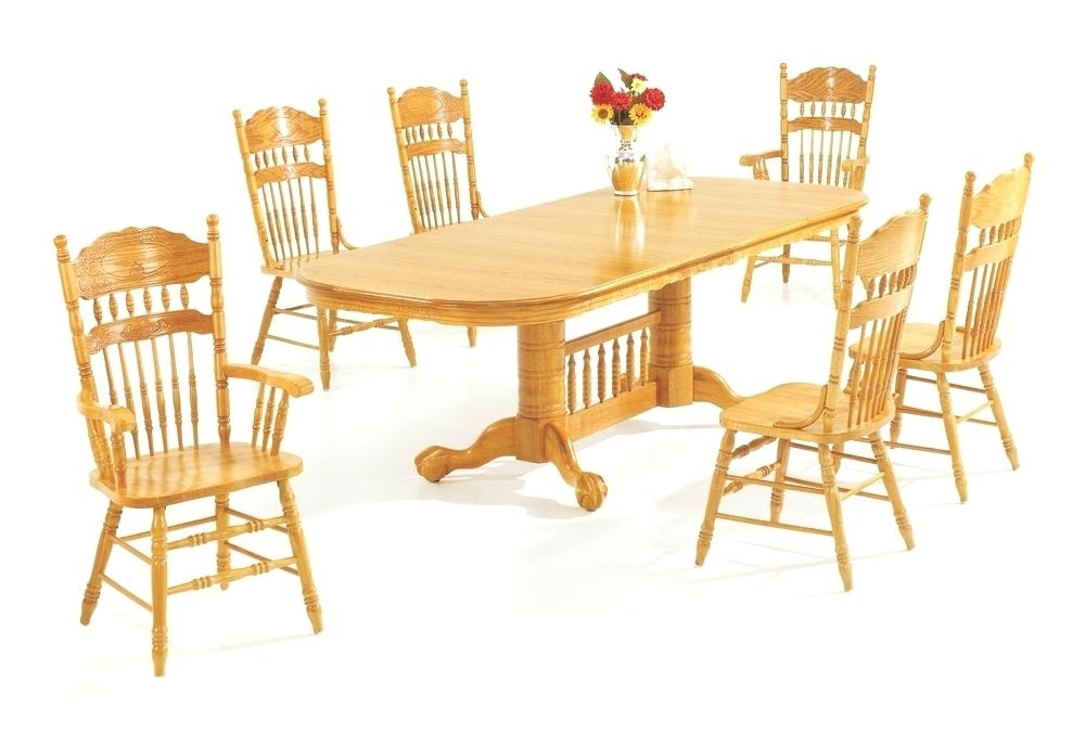 Light Oak Dining Tables And Chairs Pertaining To 2018 Oak Dining Room Chairs Chair Old Vintage Pressed Back Value Solid (Gallery 13 of 20)