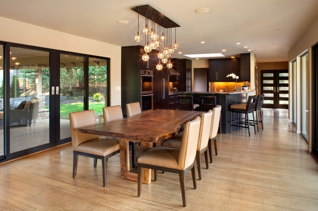 Lights For Dining Tables Inside Current Mid 60's Portland Ranch – Edic Residence Remodel – Contemporary (View 13 of 20)