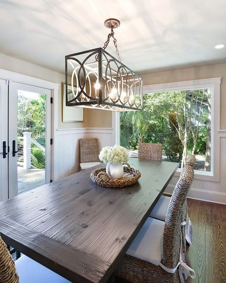 Lights For Dining Tables With Regard To Current Hanging A Dining Room Chandelier At The Perfect Height (View 6 of 20)