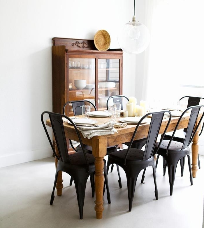 Living For 2018 Black Wood Dining Tables Sets (View 7 of 20)