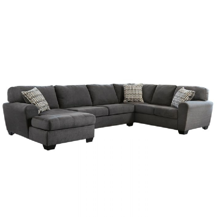 Living Room Sectionals With Most Current Burton Leather 3 Piece Sectionals With Ottoman (View 8 of 15)