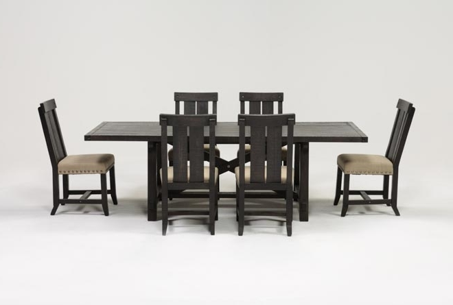 Featured Photo of Jaxon 7 Piece Rectangle Dining Sets With Wood Chairs