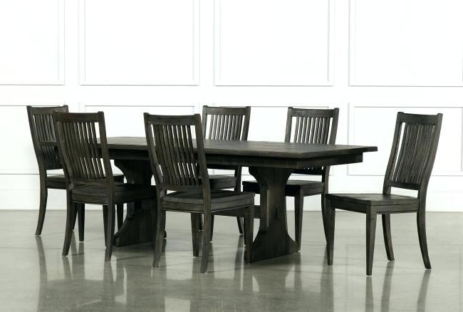 Living Spaces Dining Sets Mallard 6 Piece Extension Dining Set For Newest Mallard Extension Dining Tables (View 8 of 20)